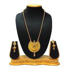 Traditional White Stone Pendant Set For Women Jewellery