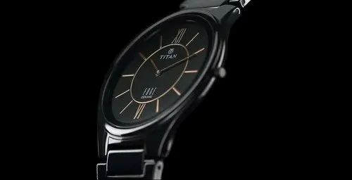 4a5a8b8a3ad Titan Edge Ceramic Analog Black Dial Mens Watch   Titan Bandhan ...
