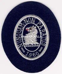 Black Zari Embroidery Badges