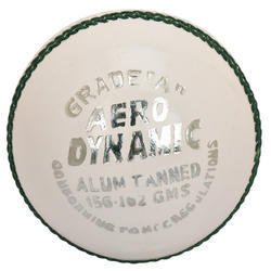 BDM Aero Dynamic White Cricket Leather Ball
