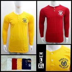 Men's Henley Neck T Shirt