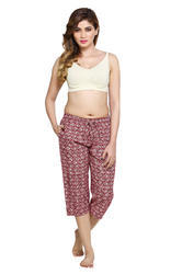 knitted and cotton capri
