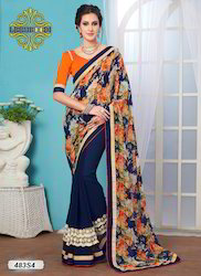 Stylish Floral Saree