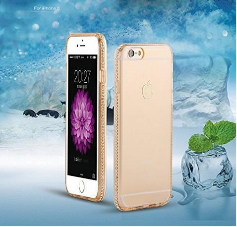 Meephone Ultra Thin Crystal Diamond Soft Back Cover Case