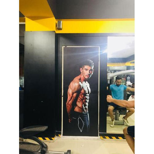 Customized wallpaper stickers gym wall sticker retailer from bengaluru