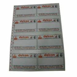 Dot Matrix Paper Labels