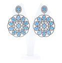 Gemstone Round Filigree Earrings