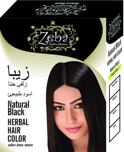 Natural Black Herbal Hair Color