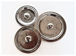 SS Hammered Versatile Serving Dish Covers