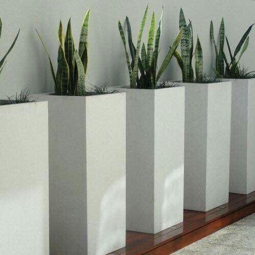 White Planter Pots