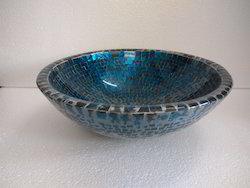 Glass Washbasin Blue