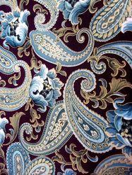 Designer Paisley Print Fabric