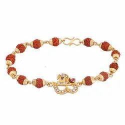 Natural Rudraksh Beads Bracelet
