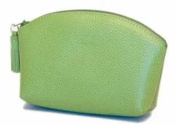 Small Leather Cosmetic Bag