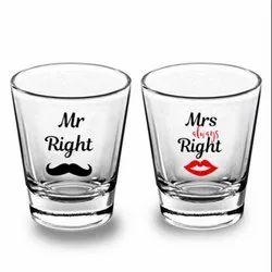 Custom Printed Shot Glass Clear 45ml