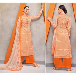 Orange Ladies Palazzo Suit