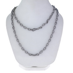 Pave Diamond Link Chain Necklace