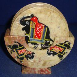 Decorative Soapstone Coaster