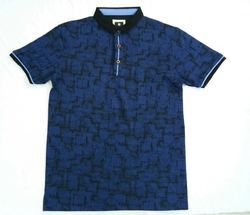 Graphic Stand Collar T-Shirt