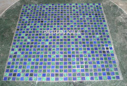 Lapis Lazuli and Malachite Mosaic Tile