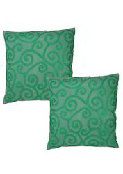 Emerald Green Towel Embroidered Pillowcase Cushion Cover