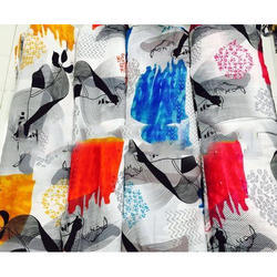 Rayon Cotton Printed Fabric