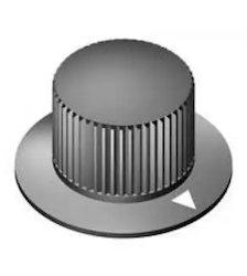 SE014 Knob Round Control Fine Dia 42 mm