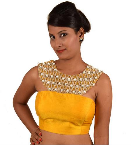 6e3470f815ab0 Saree Blouses - Yellow Raw Silk Blouse Manufacturer from Bengaluru