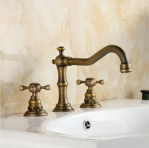 Antique Br Bathroom Basin Taps
