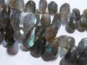Labradorite Faceted Teardrop Gemstone Beads