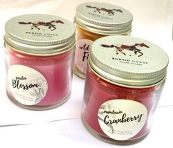 Rustc Horse Scented Candle Made With Blended Natural Wax Fine Fragrance Aroma