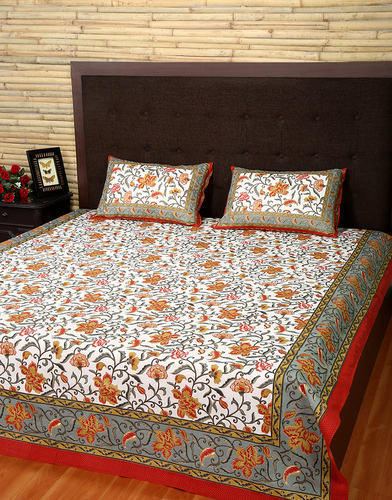 Luxurious Printed Double Bed Sheet