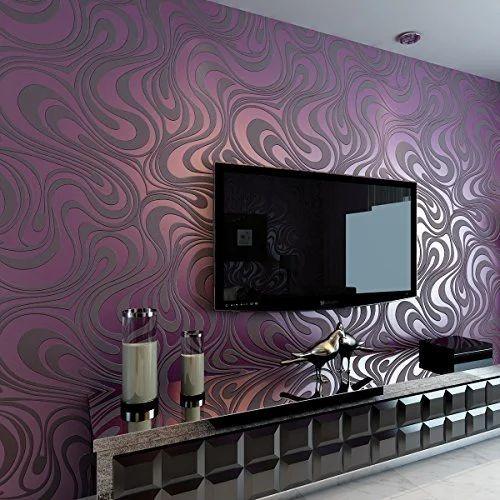Living Room Textured Wallpaper