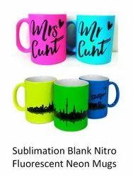 Sublimation Blank Nitro Fluorescent Neon Mugs