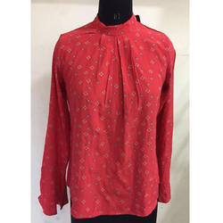 Ladies Red Printed Top