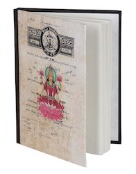 Printed Handmade Paper Pink Notebook Diary