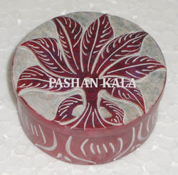 Round Soapstone Beautiful Box