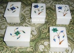Marble Inlay Pill Boxes