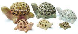 Soapstone Undecut Tortoise Figures