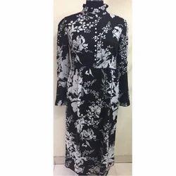Black Printed Gown