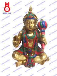 Lord Hanuman Sitting W/Out Base W/Stone Statue
