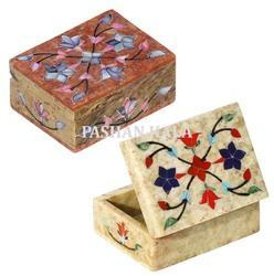 Soapstone Inlay Trinket Box