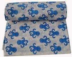 Hand Block Printed Cotton Fabric Sanganeri Print