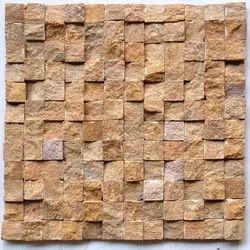Yellow sandstone wall cladding Mosaic tile
