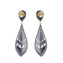 Blue Sapphire Diamond Dangle Earring