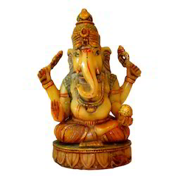 Resin Sitting Culture Marble Ganesha Statue