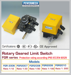 Rotary Gear Limit Switch Model FGR 2