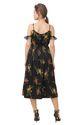 Designer Floral Midi Dress