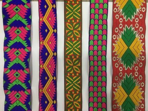 Designer Colorful Jacquard Lace
