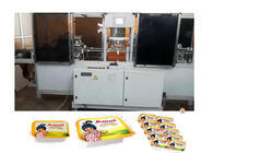 blister tray form,fill and top sealing with peel tab corner-6 cavity machine for Butter,Sauce,ket  .